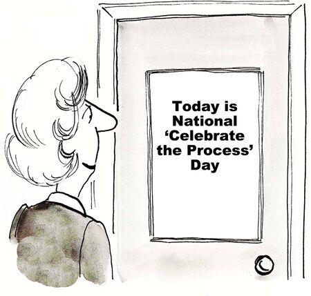 Cartoon di apprendimento di businesswoman che oggi è nazionale \ Archivio Fotografico - 36332384