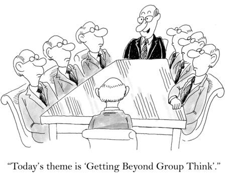 만화 비즈니스 회의, 모두 동일 하 고, 오늘은 \\\\ 스톡 콘텐츠 - 36657666