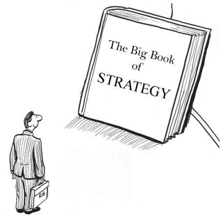 intimidating: Cartoon of Big Book of Strategy