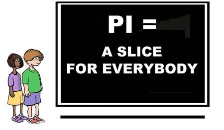 pi: Cartoon of the mathematical concept of pi.