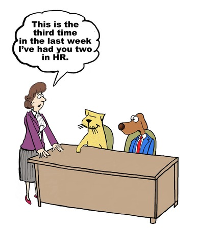 Cartoon of conflict management