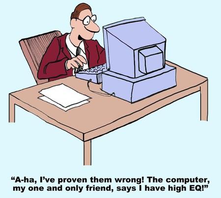 Cartoon on Emotional Intelligence Vettoriali