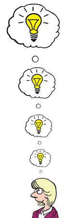 innovator: Cartoon of Idea upon Idea