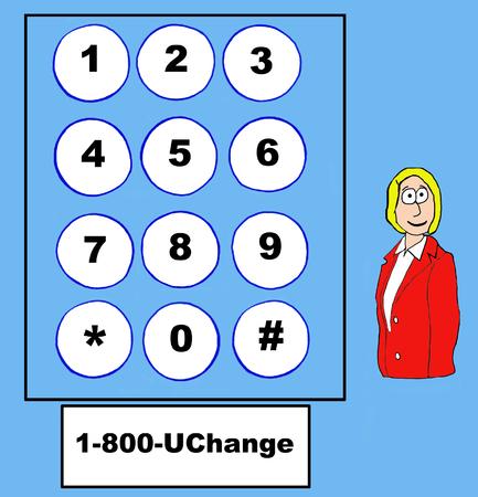 gag: Business cartoon on change 1800UChange.