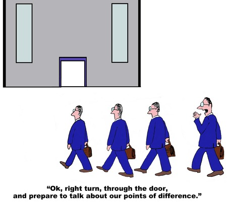 staffing: Business cartoon about the lack of diversity