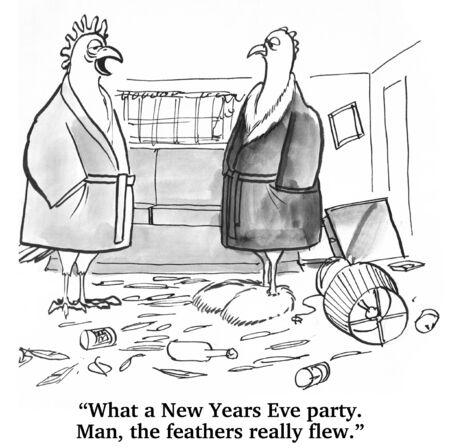 Party du Nouvel An Banque d'images
