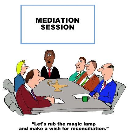 mediate: Mediation Stock Photo
