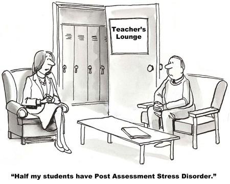 profesor alumno: Pruebas estandarizadas Foto de archivo