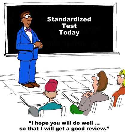 teacher and student: Standardized Testing