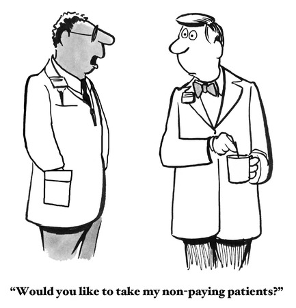 cartoon medical: Non-Paying Patients