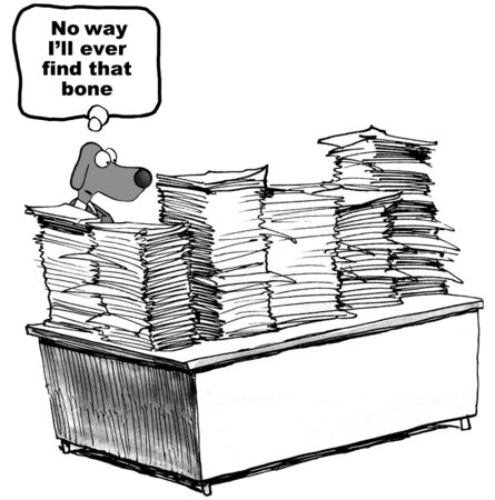 stack of paper: Paperwork