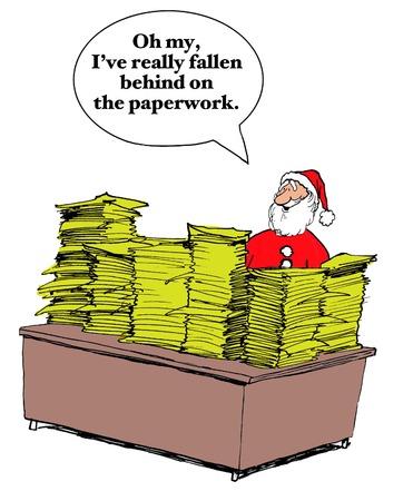 behind: Santa Claus Is Behind on Wish Lists