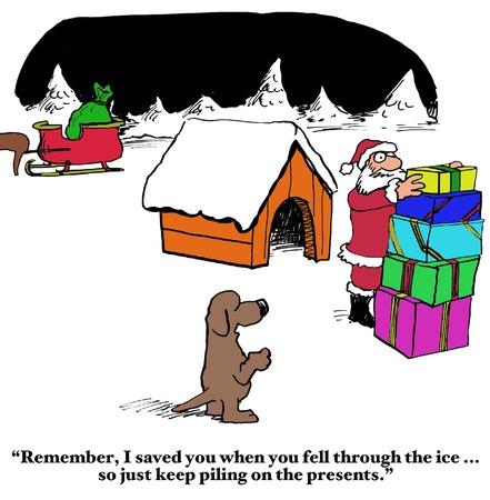 delivering: Santa Delivering Presents