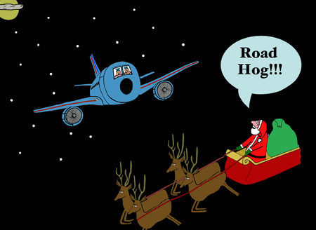 gag: Santa and Sleigh, Road Hog