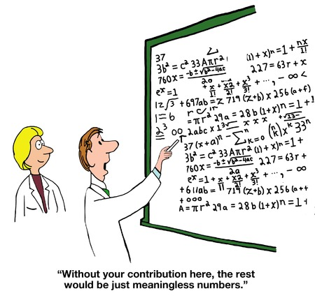 cartoon math: Thank You for Your Contribution Stock Photo