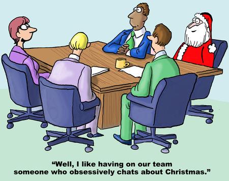 interruption: Santa is Team Member