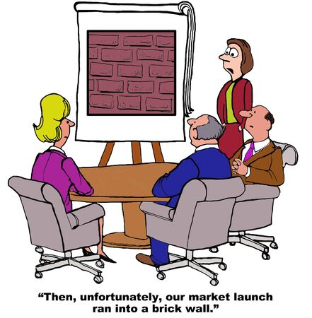 cartoons: New Product Launch Stock Photo