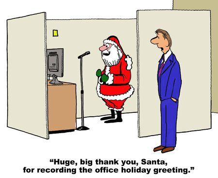 company: Company Holiday Greeting Stock Photo