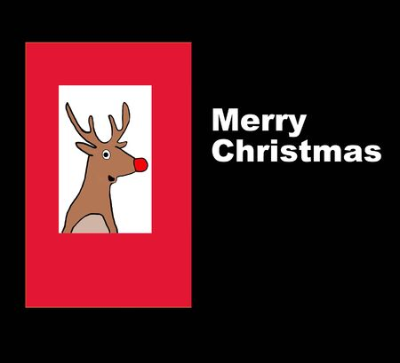 red nosed: Merry Christmas