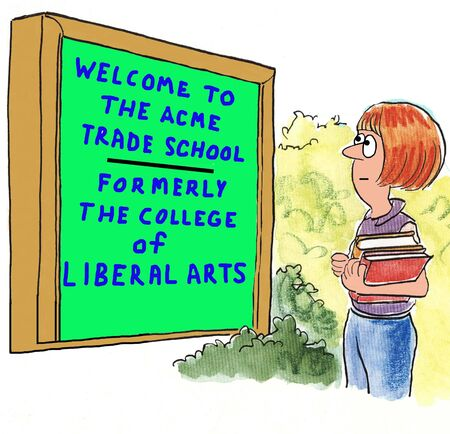 cartoon funny: Trade School
