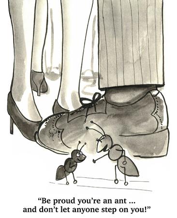 hormiga caricatura: Sea orgulloso y seguro