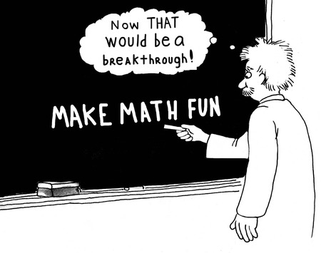 cartoon math: Make Math Fun Stock Photo