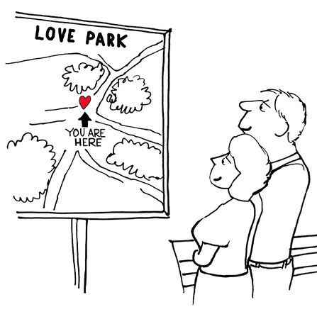 Love Park Stock Photo