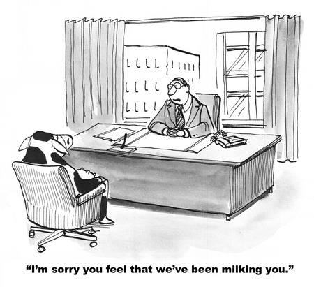 valid: Business Cow Feels She is Being Used