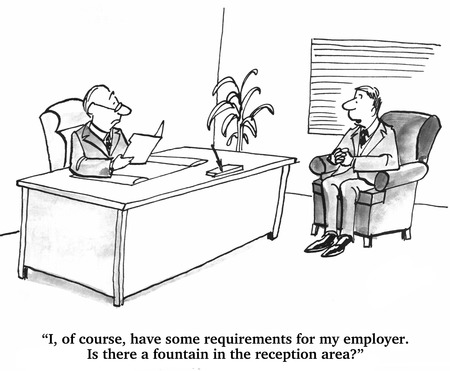 requirements: Requirements for Prospective Employer Stock Photo