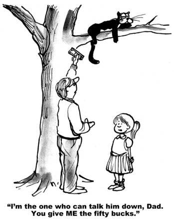 persuade: Persuade Cat to Come Down from Tree