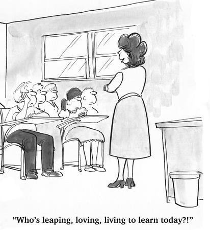 profesor alumno: Los estudiantes no están interesados ??en la Clase