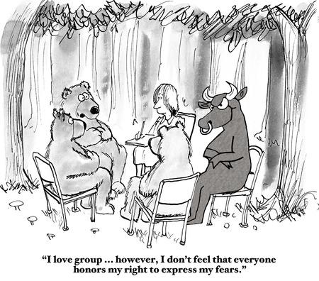 financial adviser: Bull and Bear Stock Market Stock Photo