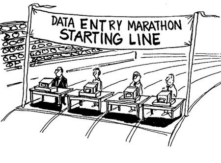 データ エントリ マラソン 写真素材