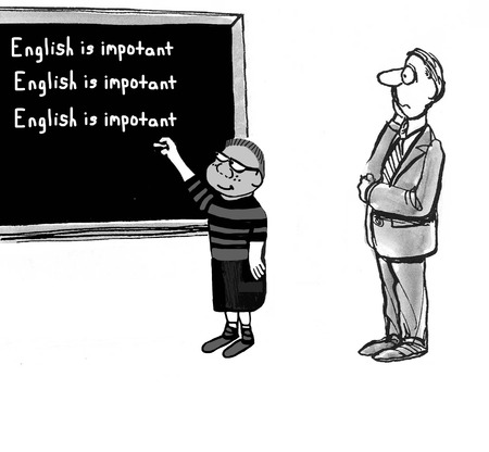 teach: Student is Bad at Spelling