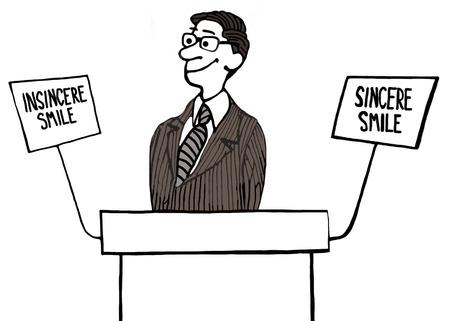 insincere: Politicians Smile Stock Photo