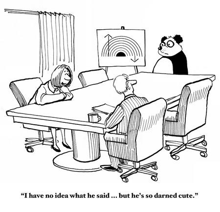 Panda Präsentation ist Verwirrende