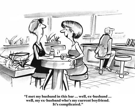 Ex-Husband is Current Boyfriend Stock Photo