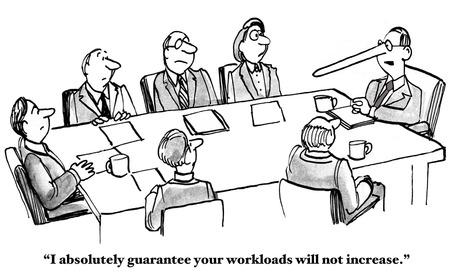 Boss Cannot Keep Workload Promise Standard-Bild