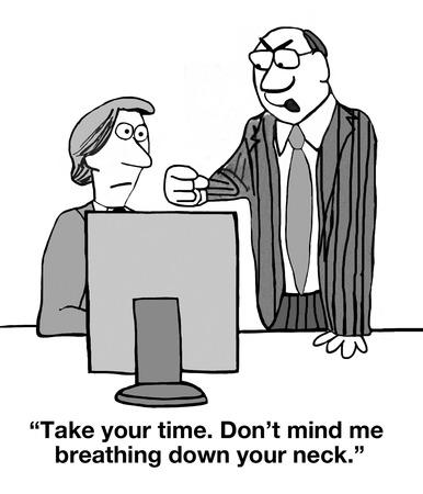 bad feeling: Difficult Boss