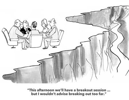 Offsite Meeting Stock Photo