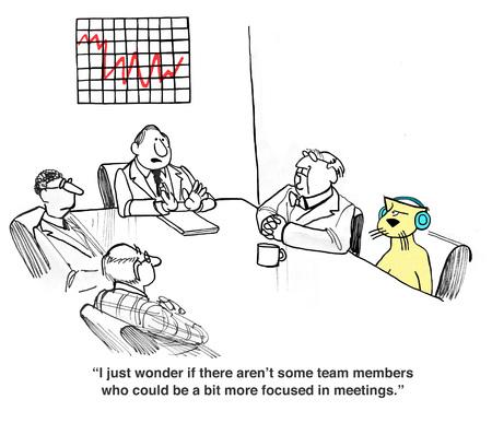회의 행동
