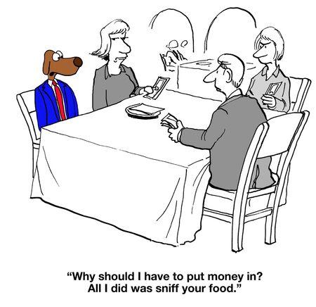 splitting: Splitting the Bill Stock Photo