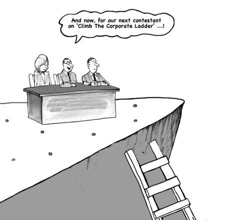trepadoras: Escalada escalera corporativa