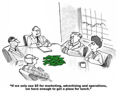 te hoge uitgaven Budget Stockfoto