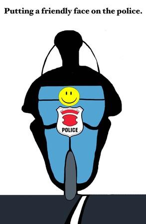 vriendelijke Politieagent Stockfoto