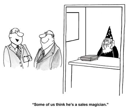 vp: Sales Magician Stock Photo