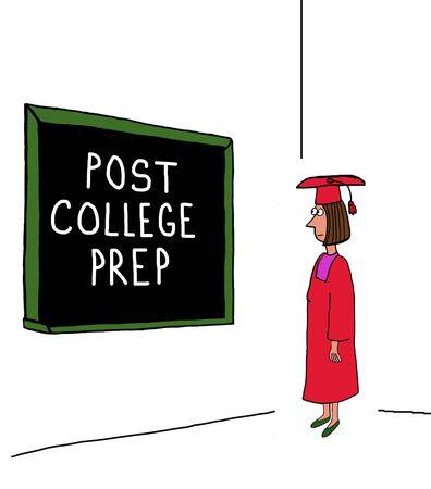 prep: Post College Prep Stock Photo