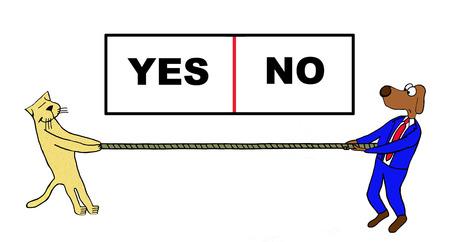 kampfhund: Tauziehen wählen Sie Ja oder Nein