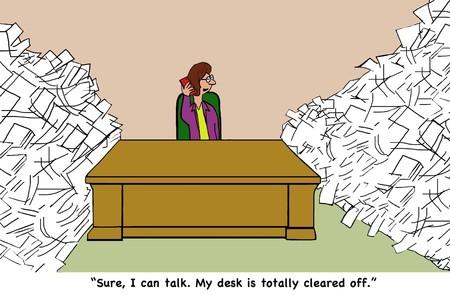 Het vermijden van papier werk