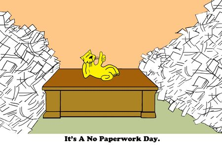Geen papierwerk Day Stockfoto - 56212441